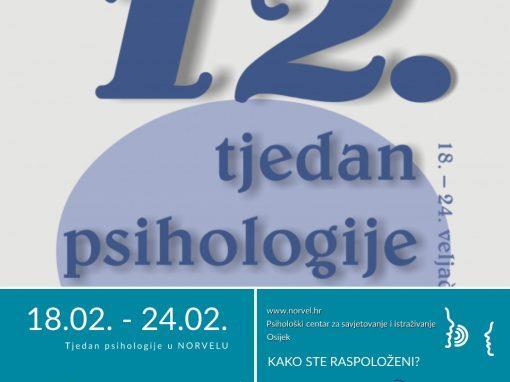 12. TJEDAN PSIHOLOGIJE – aktivnosti u Norvelu